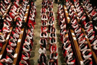 Anglican bishops at the closing ceremony of the Lambeth Conference, ...
