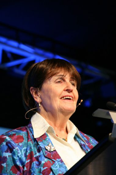 Baroness Caroline Cox addresses Christians at the Keswick Convention. ...