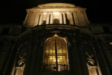 The Methodist Central Hall in central London is one of the Methodist ...