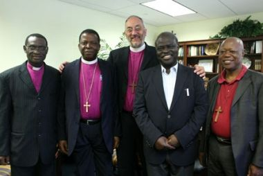 Archbishop Nicholas Okoh (left of centre), primate of the Church ...