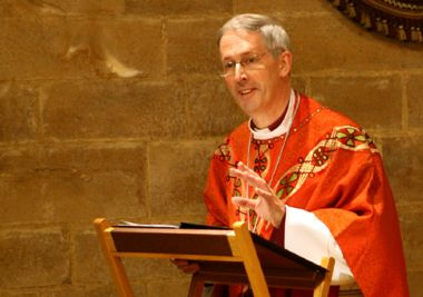 Bishop Christopher Chessun preaching at Southwark Cathedral, ...