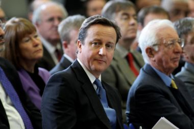 Prime Minister David Cameron prepares to speak at the launch of the ...
