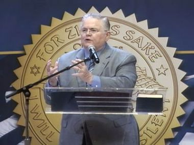 Pastor John Hagee, founder of Christians United for Israel, speaks ...