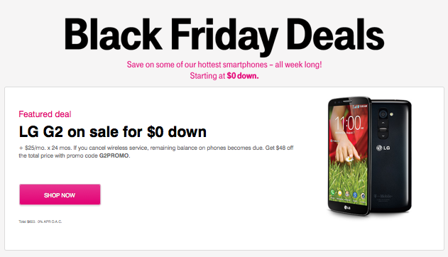 T mobile launches 2013 black friday and cyber monday ad deals for lg g2 galaxy s4 note 3 - Black friday mobel ...