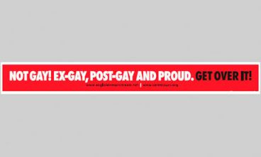 Not Gay Post Gay Bus Adverts