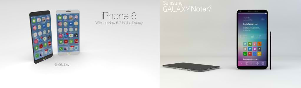 Apple iPhone 6 vs Samsung Galaxy Note 4 rumored specs and features comparison