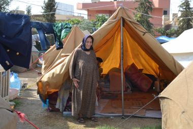 Elderly Christian in Mar Elia camp, Ankawa, Kurdistan