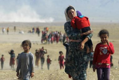 Iraqi Yazaidis Fleeing the Violence and the Islamic State