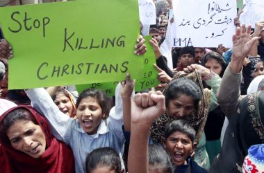 Lahore protest church bombing