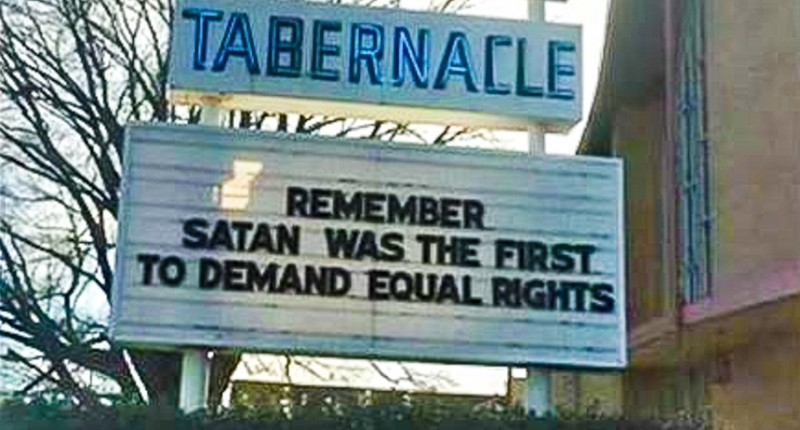Tennessee church removes Satan billboard message on equal rights ...
