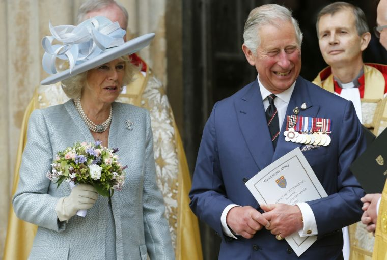 Charles and Camilla VE day