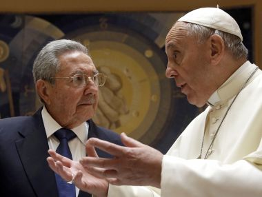 Pope Francis and Castro