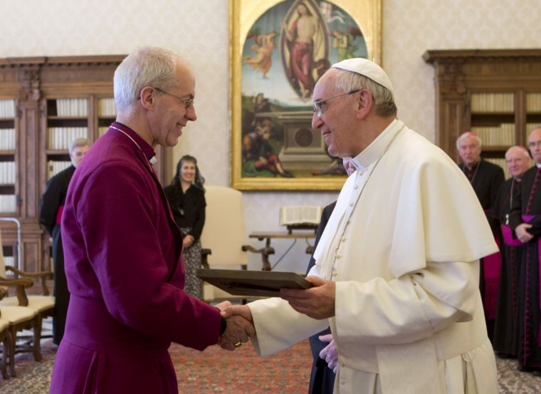 Justin Welby & Pope Francis