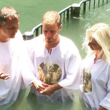 Brian Littrell and Wife Leighanne Get Baptized