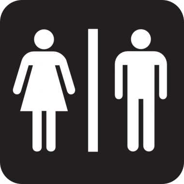 Toilet sign