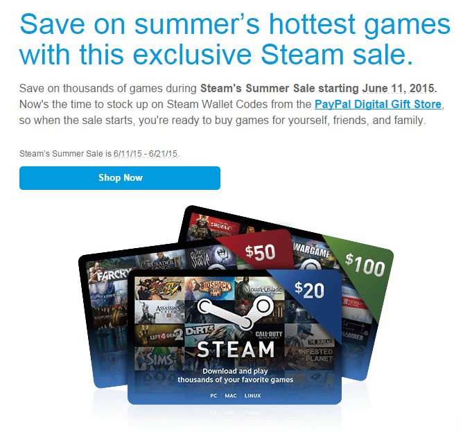 Steam discount coupon