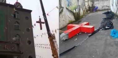 Church cross removal in China