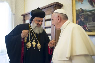 Pope Francis with Syriac Orthodox Patriarch