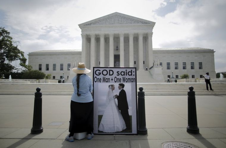Protest against same-sex marriage