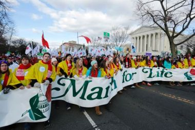 March for life at US Supreme Court