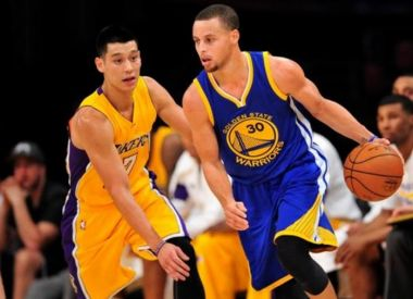 Jeremy Lin vs Stephen Curry