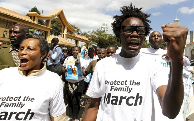 Anti-gay protest in Kenya