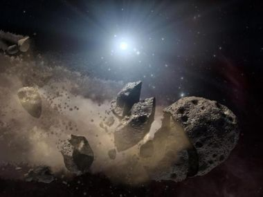 Broken-up asteroid