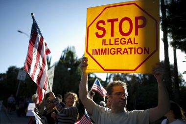 Protest against illegal immigration in US