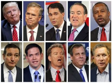 Top 10 Republican presidential candidates