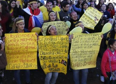 Anti-abortion protest in Paraguay