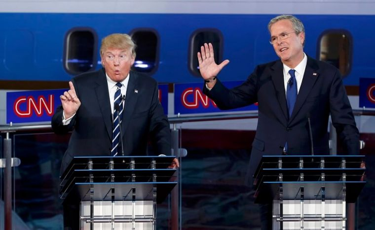Donald Trump and Jeb Bush at 2nd GOP debate