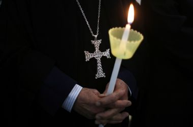 Orthodox Cross and Candle
