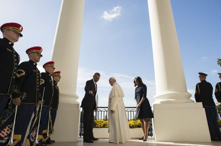 President Obama with Pope Francis at White House