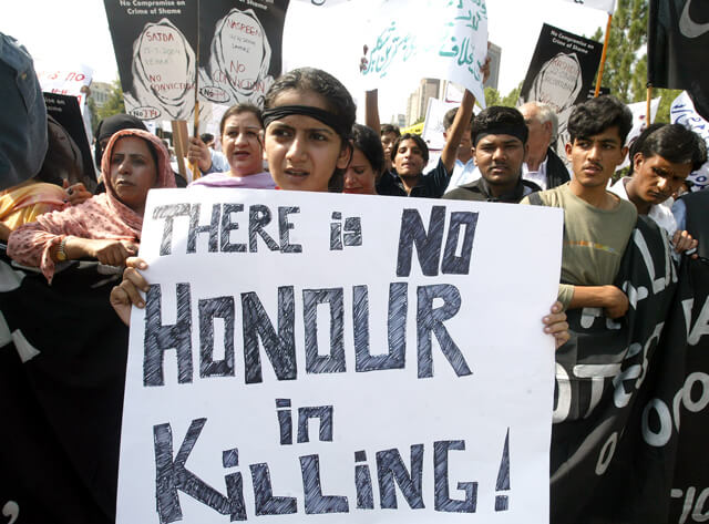 Protest against honor killing