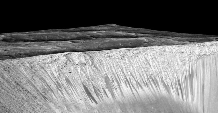 Signs of flowing water on Mars