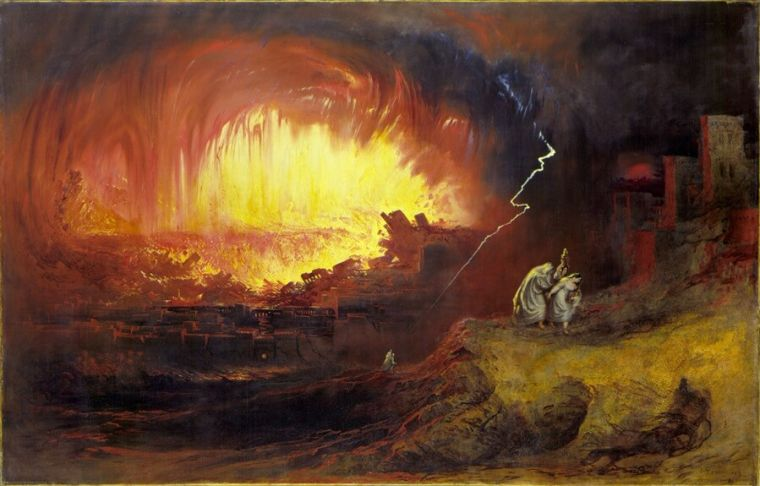 Sodom and Gomorrah destruction painting