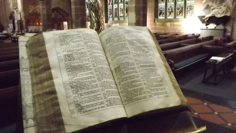King James Bible discovered at St Giles Wrexham