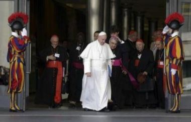 Pope Francis at synod on family