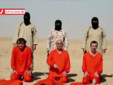 ISIS execution of 3 Assyrians