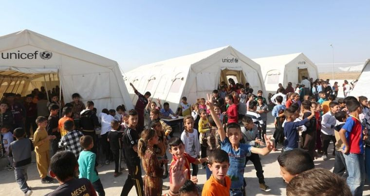 UN refugee camp in Iraq