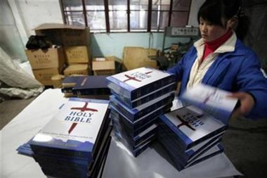 Packing Bibles in China