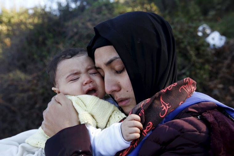 Syrian mother and child