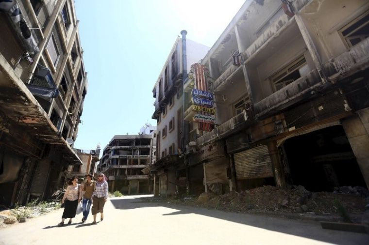 Abandoned street in Homs