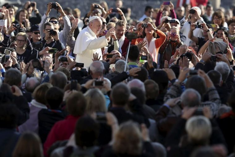 Pope Francis in Rome at synod
