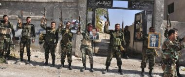 Victorious Syrian soldiers