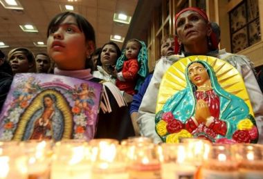 Mexican Catholics honour Virgin of Guadalupe