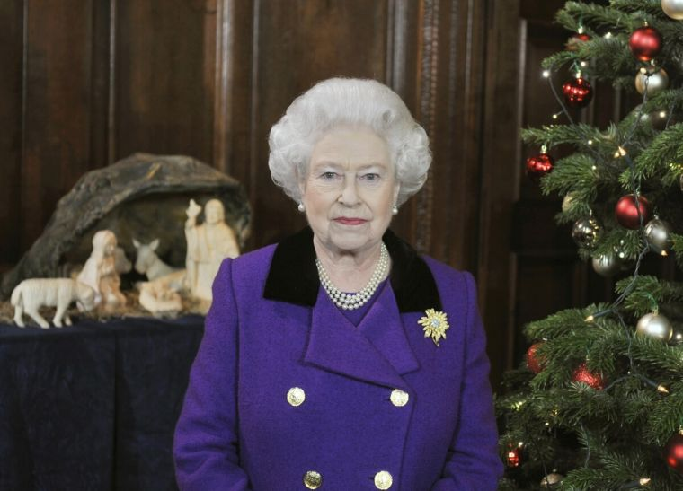 The Queen at the Chapel Royal Hampton Court