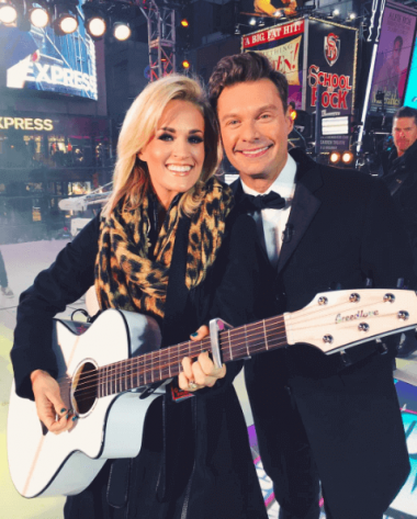 Ryan seacrest thinks carrie underwood is a bigger star for Who is carrie underwood married too