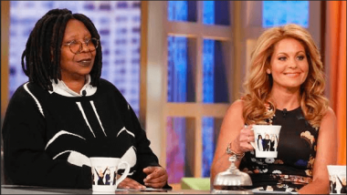 The View Co-Hosts Whoopi Goldberg and Candace Cameron Bure