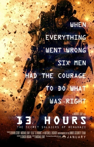 '13 Hours: The Secret Soldiers of Benghazi' movie poster